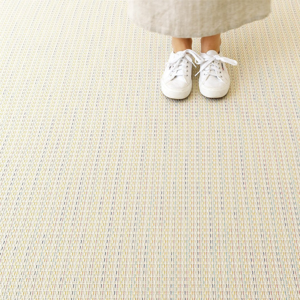 Basketweave Floor Mat - Sugar Mini
