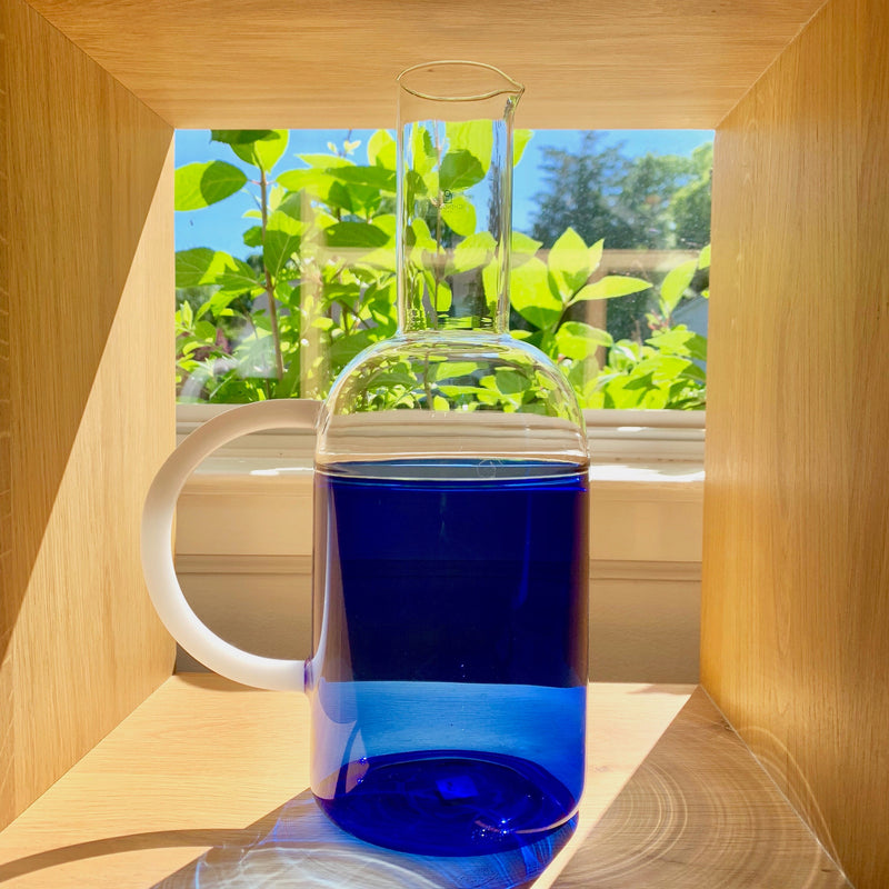 Tequila Sunrise Jug-Blue/Clear