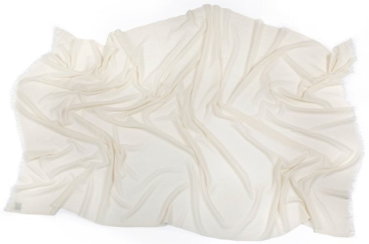 Pure White Cashmere Throw