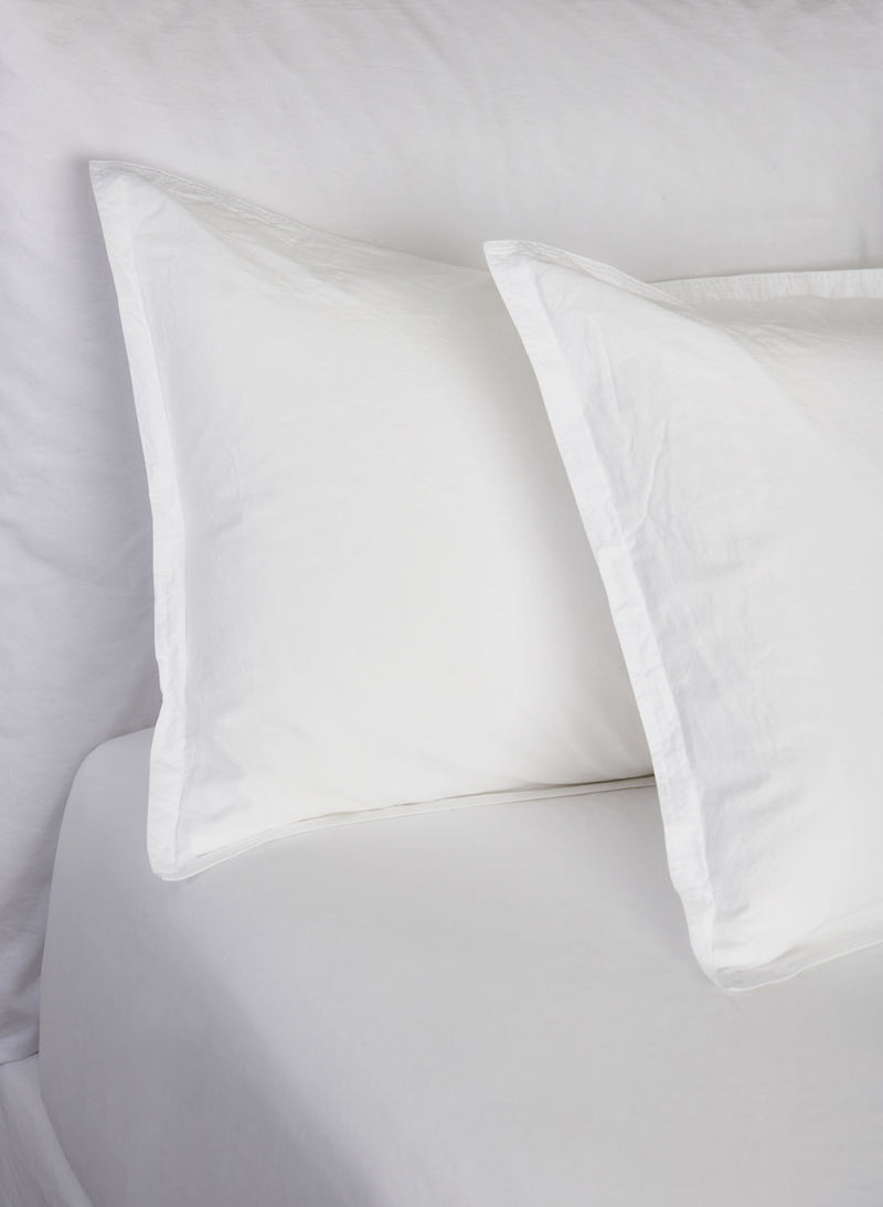 Relaxed Percale Pillowcase (Pair)