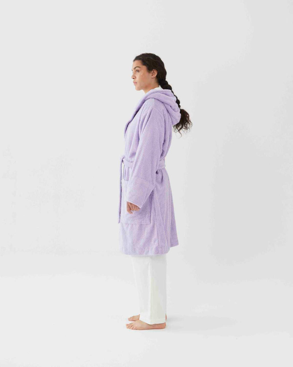 Hooded Bathrobe - Lavender