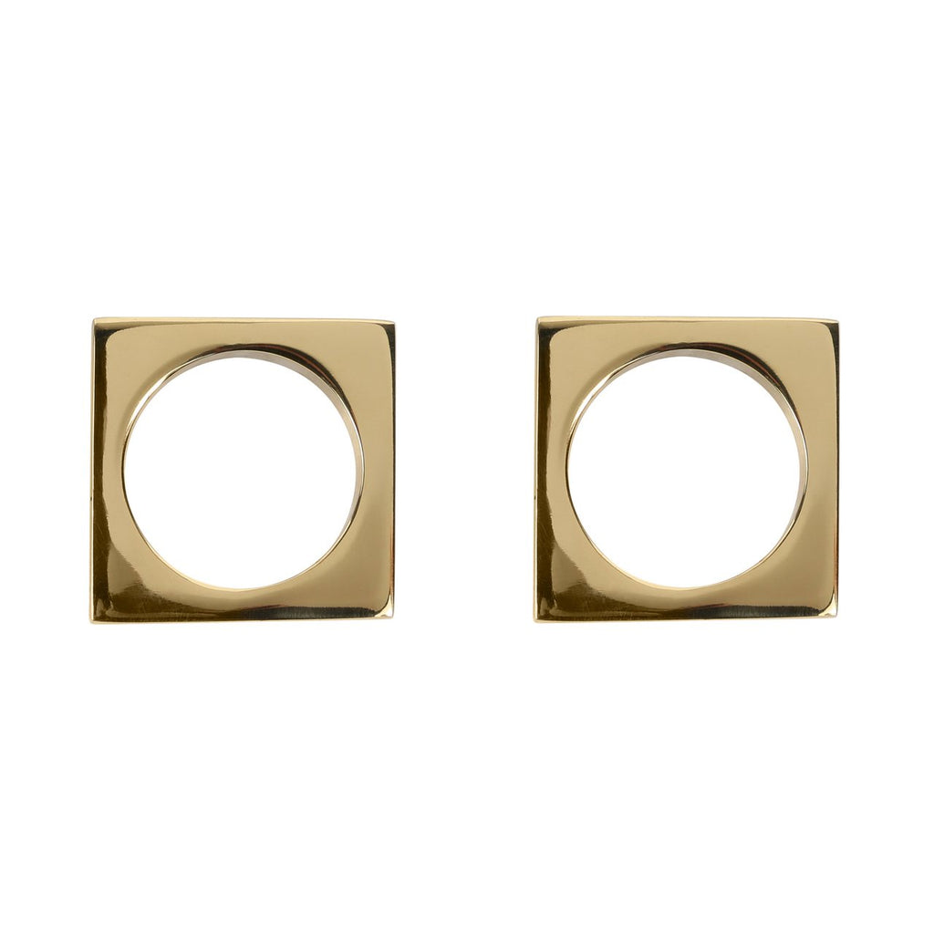 Brass Modernist Napkin Rings (Set of 2)