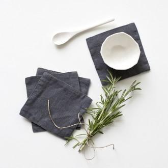 Washed Linen Coasters (Set of 4)