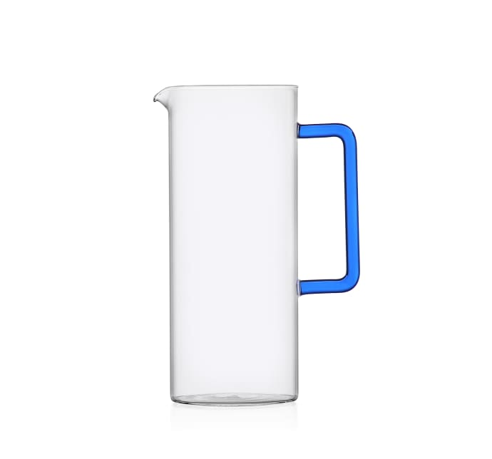 Tube Jug w/ Blue Handle