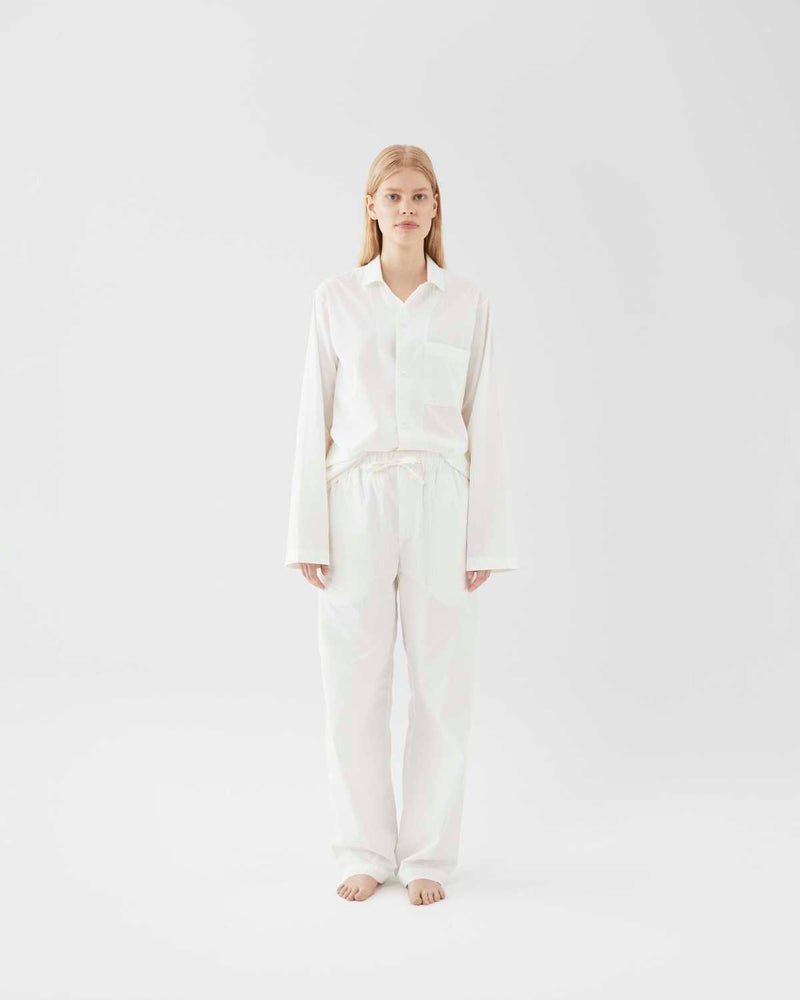 Poplin Pyjamas Morning White