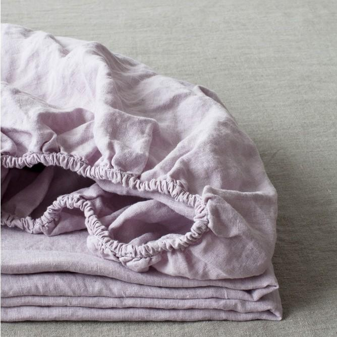 Washed Linen Fitted Bed Sheet