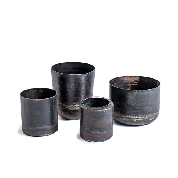 Recycled Iron Votive and Planter (four styles)