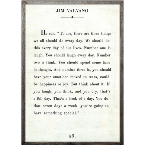 Jim Valvano - Book Collection - Sugarboo and Co - White - Grey Wood Frame
