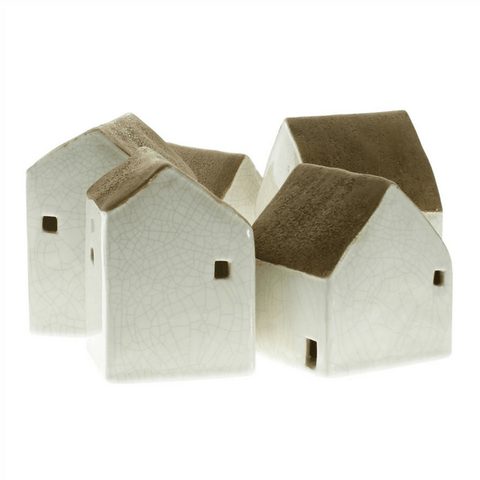 Ceramic Cottages - Set of 5 - Sugarboo and Co