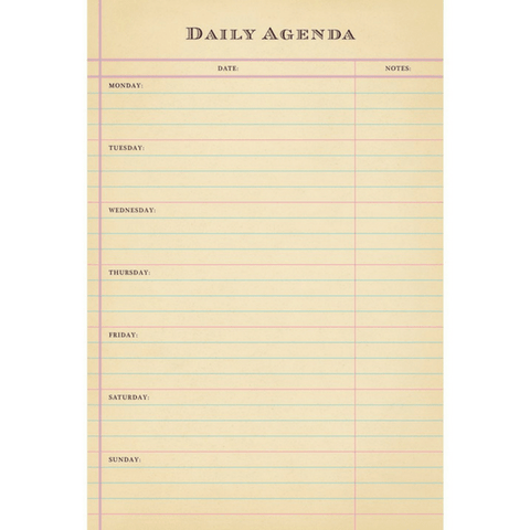 Daily Agenda - Sugarboo and Co