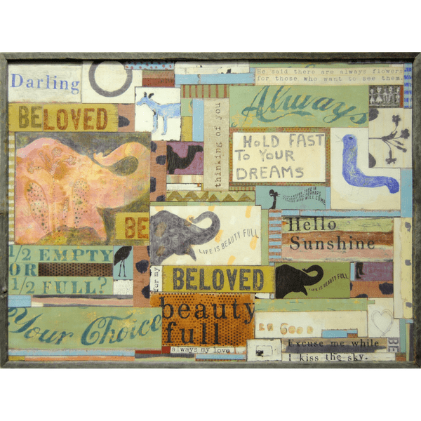 Assemblage Art Print - Sugarboo and Co - Grey Wood Frame