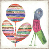 Flower and Bird Art Print - Sugarboo and Co - Gallery Wrap