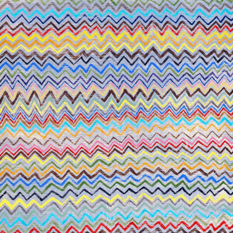 Zig Zag Art Print - Sugarboo and Co - Gallery Wrap