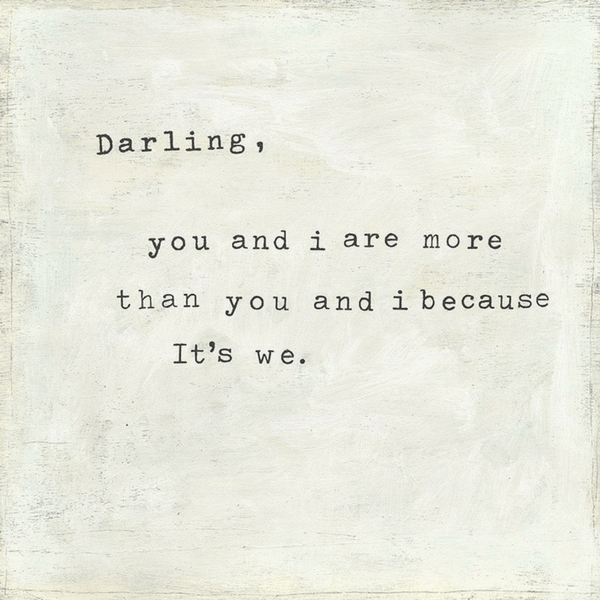 Darling You and I - Sugarboo and Co Art Print - Gallery Wrap
