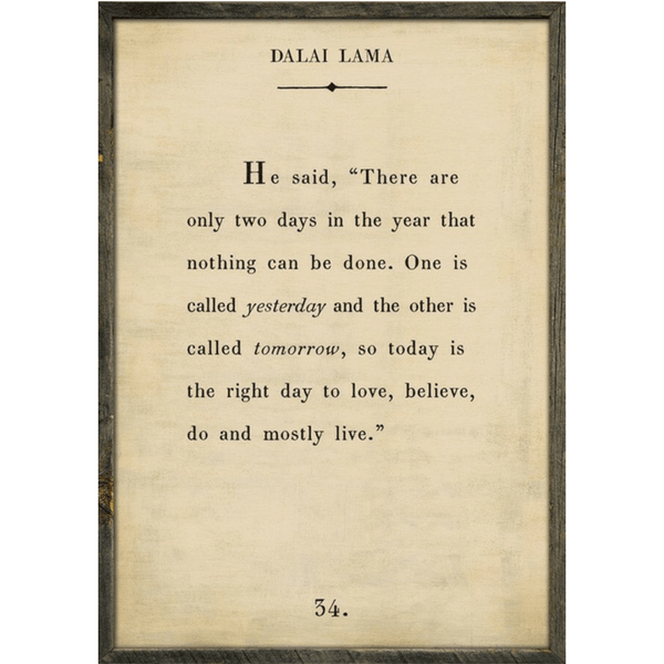 Dalai Lama Book Collection - Sugarboo and Co - Cream - Grey Wood Frame
