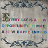Every Day is a New Opportunity - Sugarboo and Co Art Print - Gallery Wrap