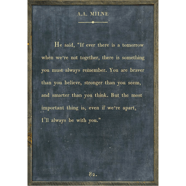 A.A. Milne Book Collection - Sugarboo and Co - Charcoal - Grey Wood Frame