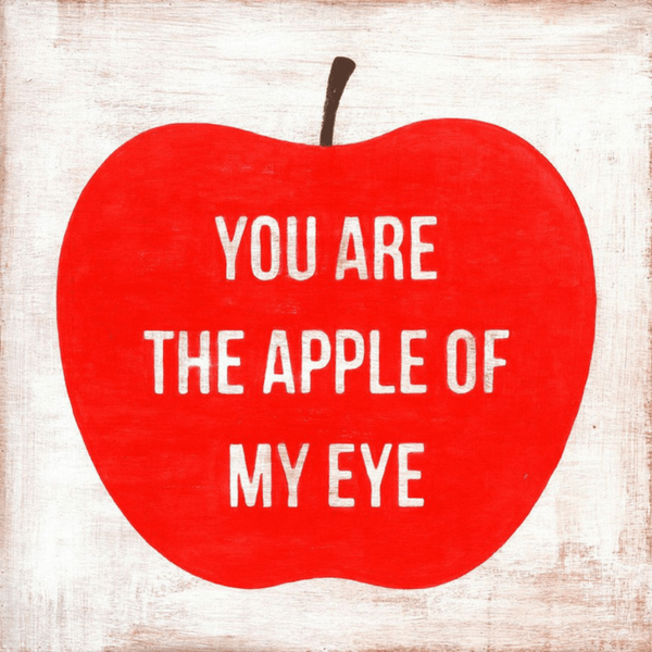 You Are the Apple of My Eye - Gallery Wrap - Sugarboo and Co Art Print