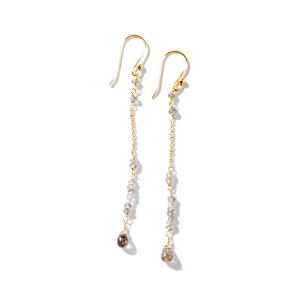 Labradorite Chain Drop Earrings - Sugarboo and Co