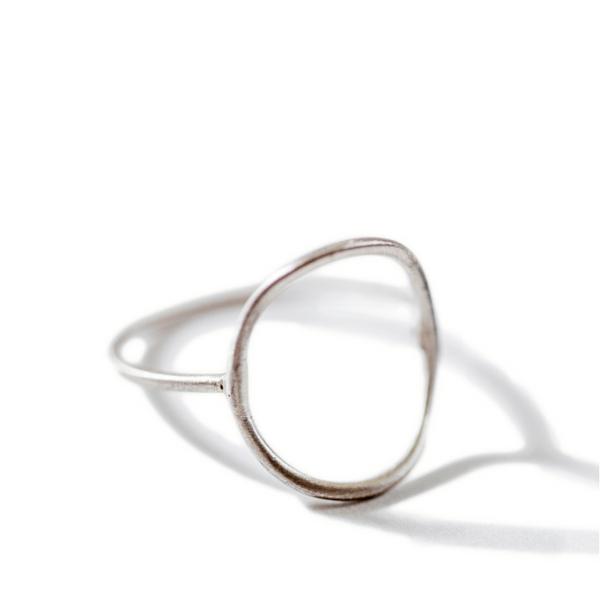 Sterling Silver Open Circle Ring (Two Sizes) - Sugarboo and Co