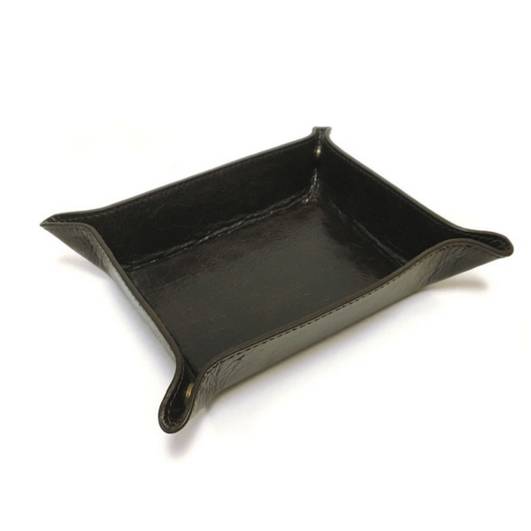 Brown Leather Catchall Tray - Sugarboo And Co