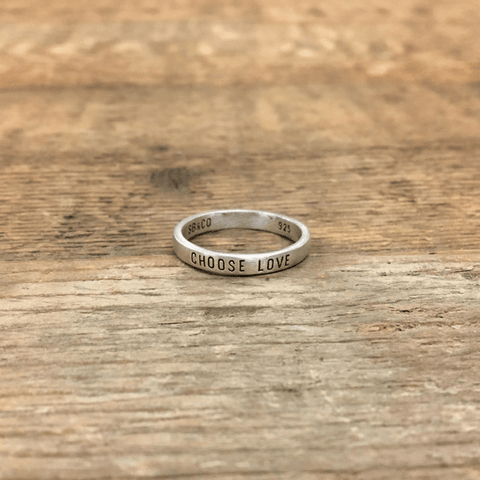 Sterling Silver Ring - Choose Love - Sugarboo and Co