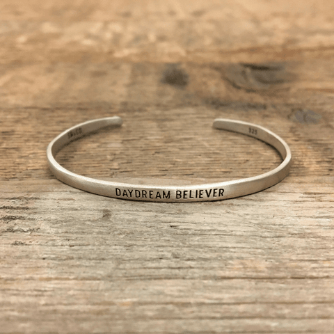 Sterling Silver Cuff - Daydream Believer - Sugarboo and Co