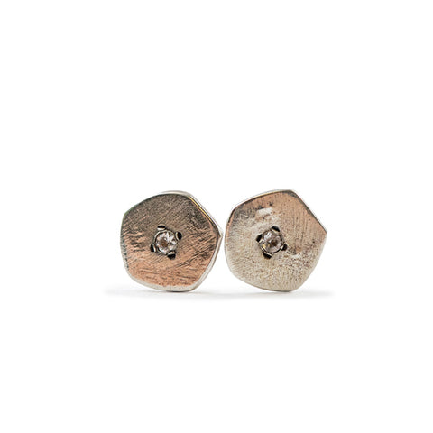 Round Pendant Stud Earrings