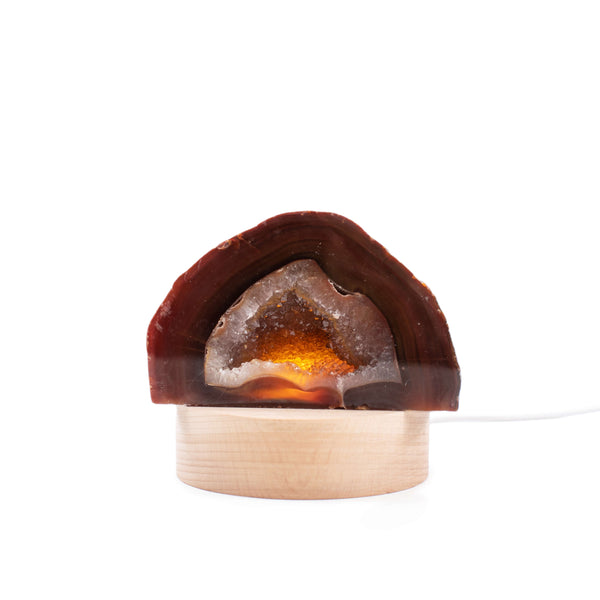 All Natural Agate Lamp with Usb Led Base