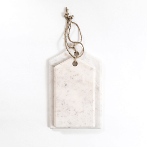 White Marble Serving Board (Two Sizes) - Sugarboo and Co