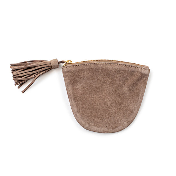 Suede Jewelry Pouch with Tassel