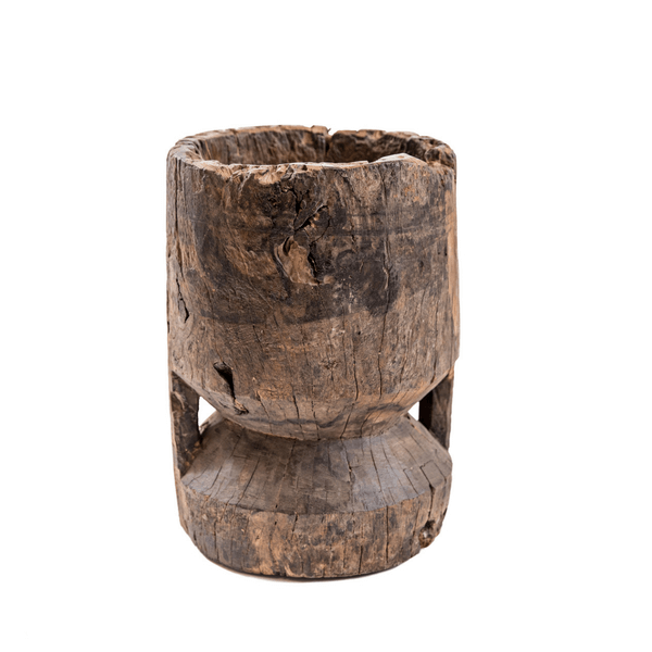 Wooden Mortar/Planter - Sugarboo and Co