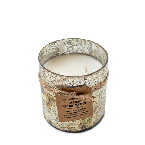 Sugarboo & Co. distressed glass candle