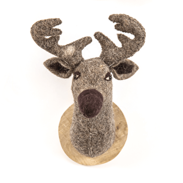 Felt Reindeer Trophy Head - Sugarboo and Co