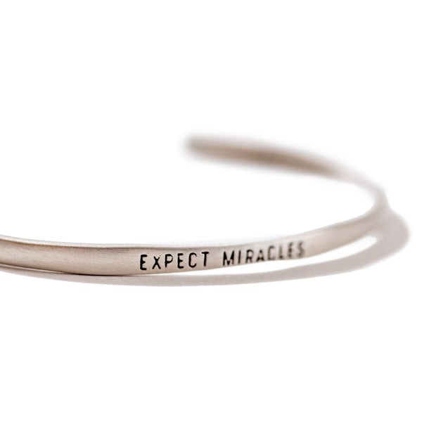 Sterling Silver Cuff - Expect Miracles