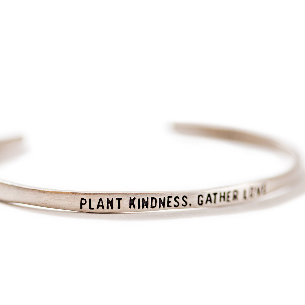 Sterling Silver Cuff - Plant Kindness