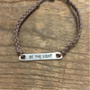 Braided Bar Bracelets - Brown Be The Light - Sugarboo and Co