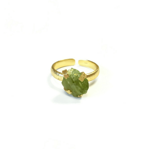 Green Apatite Gold-Plated Ring - Sugarboo and Co