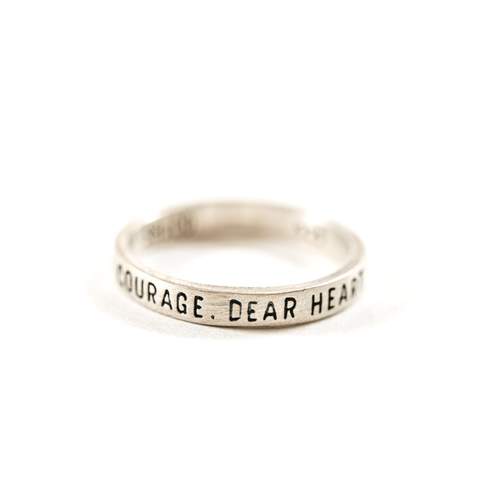 Sterling Silver Ring - Courage Dear Heart - Sugarboo and Co