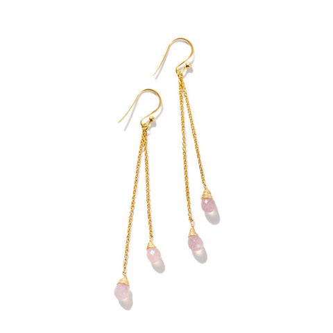 Rose Chalcedony Drop Earrings - Sugarboo and Co