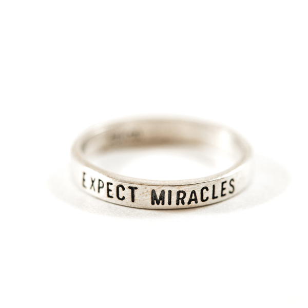 Sterling Silver Ring - Expect Miracles - Sugarboo and Co