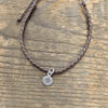 Braided Adjustable Pendant Bracelets - Brown Circle - Sugarboo & Co