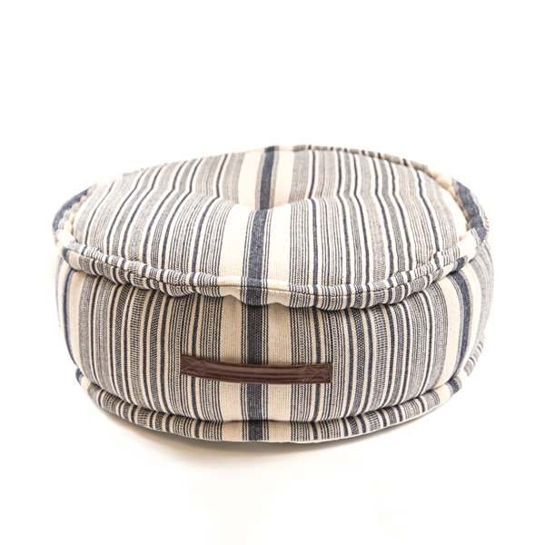 Striped Cotton Pouf with Handle - Sugarboo and Co