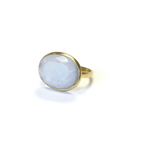 Oval Rainbow Moonstone Ring - Sugarboo and Co