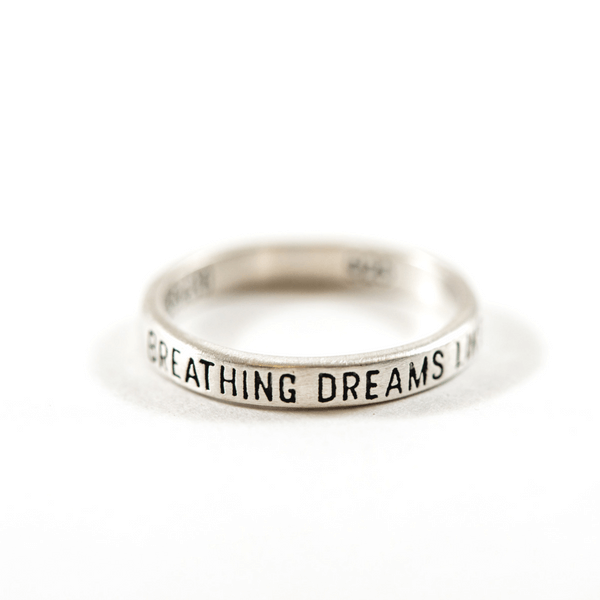 Sterling Silver Ring - Breathing Dreams Like Air - Sugarboo and Co