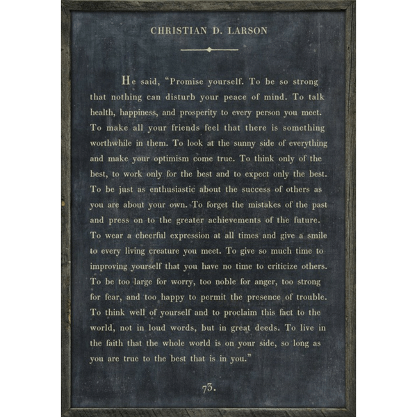 Christian Larson Book Collection - Sugarboo and Co - Charcoal - Grey Wood Frame