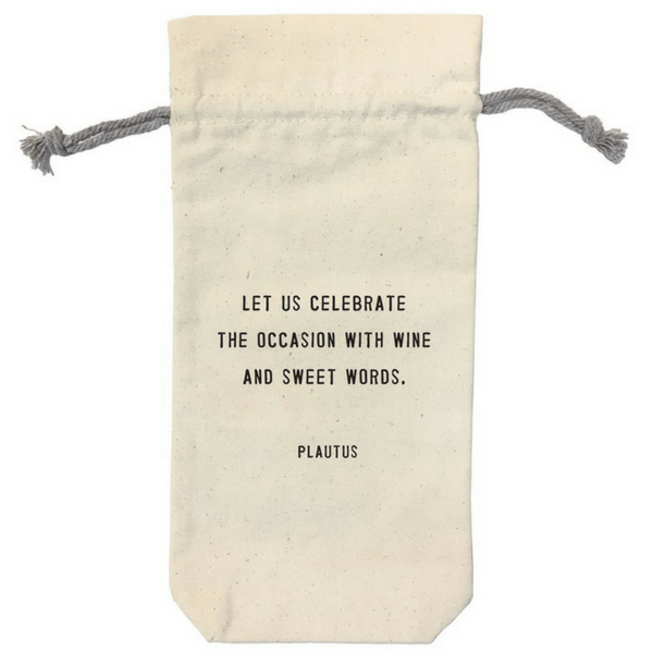 Canvas Wine Bag - Sugarboo and Co - Let us celebrate
