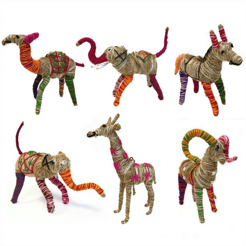 Fair Trade Jute Animals - Sugarboo and Co