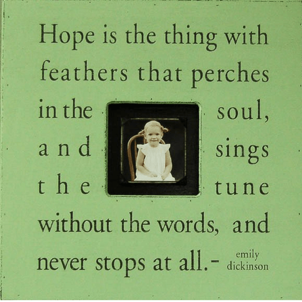 Hope is the thing with feathers - Emily Dickinson - Sugarboo and Co Photobox