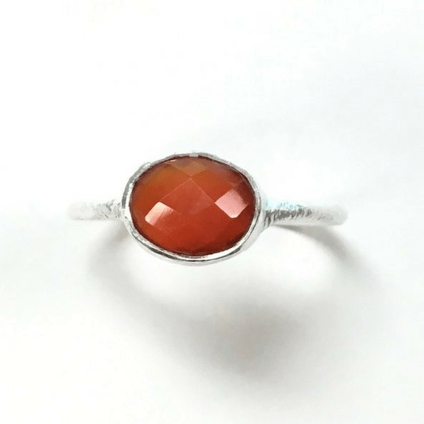 Oval Cornalion Ring - Sugarboo and Co